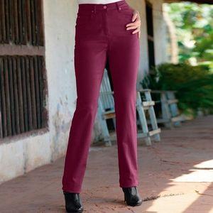 Tvarujúce nohavice s 5 vreckami purpurová 36 vyobraziť