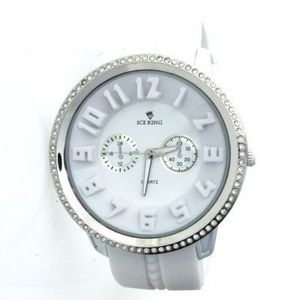 Iced Out Bling Silicone Watch - CARBON ICE white   silver - Uni   biela 612ab5b4ec