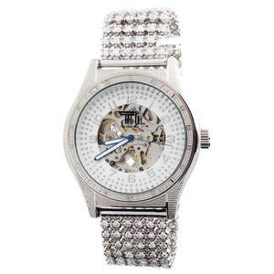 Iced Out TECHNO ICE - SPECIAL EDITION Diamond Automatic Watch - 0.25 - Uni / strieborná vyobraziť