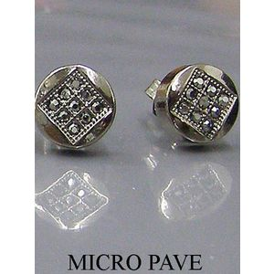 Iced Out Earrings - 5204Ssilver - Uni / čierna vyobraziť