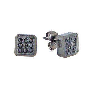 Iced Out Earrings - 5209S - Uni / čierna vyobraziť