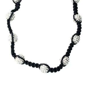 Iced Out Luxury DISCO BALL Chain - SILVECED OUT - 90cm / čierna vyobraziť