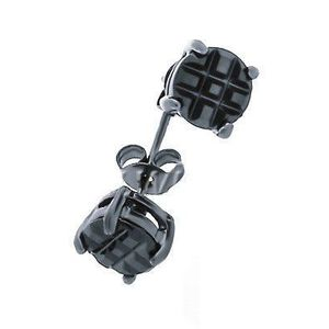 Iced Out Earrings Steel Black - 4mm vyobraziť