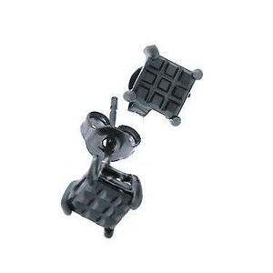 Iced Out Earrings 3 x 3 Black - 5x5mm vyobraziť