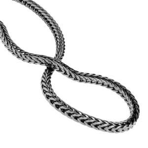 Iced Out Bling FRANCO CHAIN - 5mm black - Uni / čierna vyobraziť