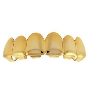 Iced Out Grillz - Gold - One size fits all - TOP - Uni / zlatá vyobraziť