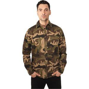 Urban Classics Camo Shirt Woodcamo - S / maskáčová vyobraziť
