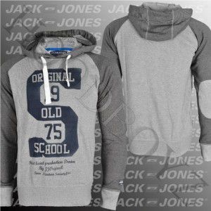 Jack & Jones Irving Sweat Hoody Light Grey Melange - M / šedá vyobraziť