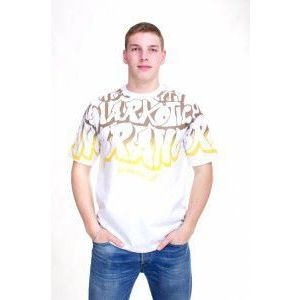 NARKOTIC WEAR GRAFFITI T-SHIRT WHITE/YELLOW - XL / bielo-žltá vyobraziť