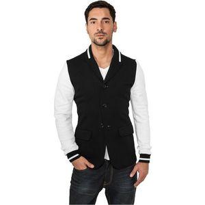 Urban Classics Sweat Blazer - S / čierno-biela vyobraziť