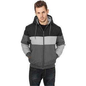Urban Classics Tricolor Nylon Jacket Grey - L / šedo-sivo-čierna vyobraziť