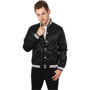 Urban Classics Mens Shiny College Jacket Black - M / čierna vyobraziť