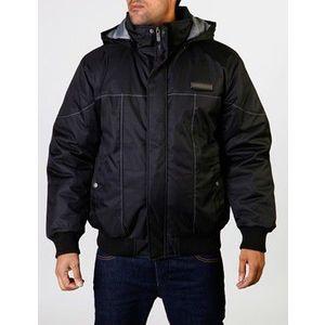 Raw Blue Basic 2 Tone Snorkel Winter Jacket - L / čierno-šedá vyobraziť