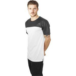 Urban Classics Football Mesh Long Jersey White - L / bielo-čierna vyobraziť