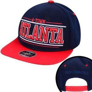 567f2f010c9 Hoodboyz Hoodboyz A-town Atlanta Snapback Cap Navy Red - Uni   modro-červená