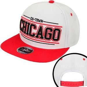Hoodboyz Chi -town Chicago Snapback Cap White Red - Uni / bielo-čierna vyobraziť
