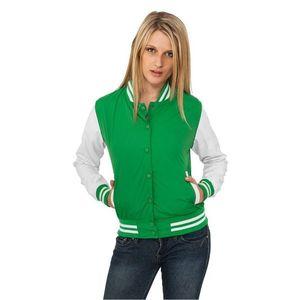 Urban Classics Ladies Light College Jacket Grn Wht - S   zeleno-biela 1f93bf1ad7