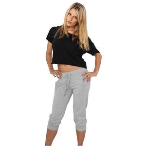 Urban Classics Ladies French Terry Capri Grey - L / šedá vyobraziť