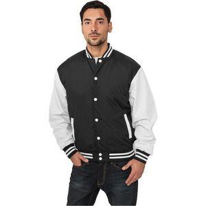 Urban Classics Light College Jacket Black White - S / čierno-biela vyobraziť
