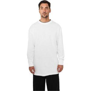 Urban Classics Contr. Tall Tee L/S White - 6XL / bielo-čierna vyobraziť