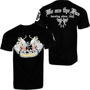 Hood Star Dog In Fire Men T-shirt Blk - L / čierna vyobraziť