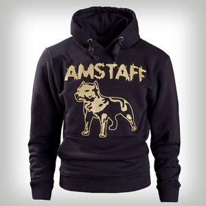 Amstaff Hoody Logo Blk Gold - 2XL / čierno-zlatá vyobraziť