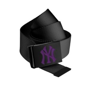 Master Dis MLB Premium Black Woven Belt Single Purple - Uni / čierna vyobraziť