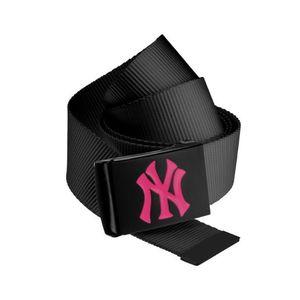 Master Dis MLB Premium Black Woven Belt Single Magenta - Uni / čierna vyobraziť
