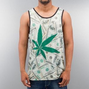 Just Rhyse Weed And Money Tank Top Colored - L vyobraziť