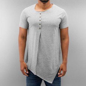 Just Rhyse Button T-Shirt Grey - S vyobraziť