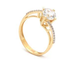 Zlatý zásnubný prsteň ZENAIDA (46 kúskov) - ModaModa.sk 7beb5ad2cce