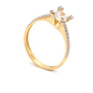 Zlatý zásnubný prsteň YSABEL (49 kúskov) - ModaModa.sk 47a818c534e