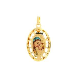 Zlatý veľký medailón Madony s dieťaťom vyobraziť