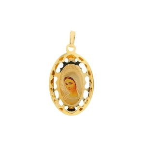 Zlatý veľký medailón Panny Márie Medžugorskej vyobraziť