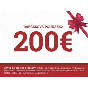 Darčeková poukážka 200€ vyobraziť