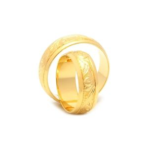 Svadobné obrúčky FLORIAN zo žltého zlata vyobraziť