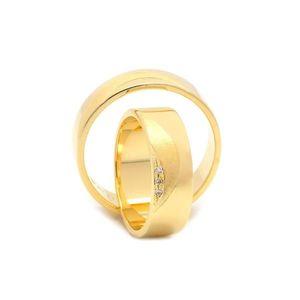 Svadobné obrúčky FLORIN zo žltého zlata vyobraziť