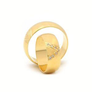 Svadobné obrúčky LILITA zo žltého zlata vyobraziť