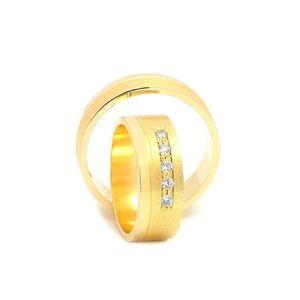 Svadobné obrúčky CHRYSANTA zo žltého zlata vyobraziť