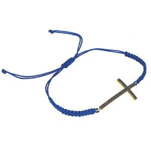 Ochranný náramok Zlatý čierny krížik vyobraziť