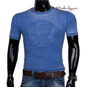 11444-61 Sv.modré tričko s 3D vzorom. vyobraziť
