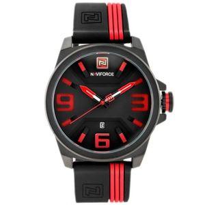 Pánske červeno-čierne hodinky Naviforce NF9098-E vyobraziť