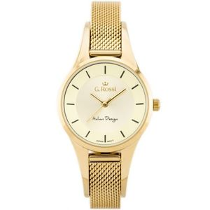 18d792fed Elegantné dámske hodinky v zlatej farbe Gino Rossi 5741B-1D1 (50 ...