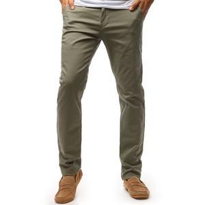 Elegantné khaki chinos nohavice vyobraziť