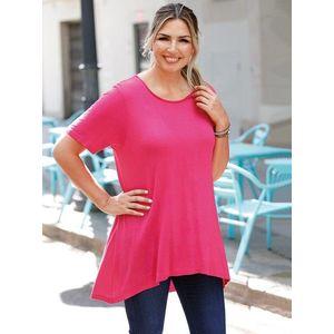 Tričko s krátkymi rukávmi ružová XL vyobraziť