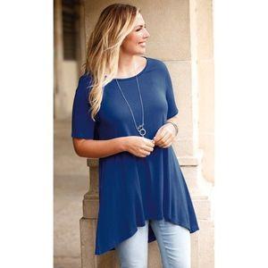 Tričko s krátkymi rukávmi modrá XL vyobraziť