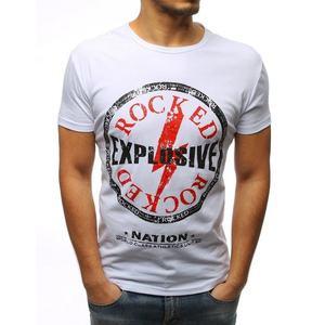 Biele tričko s výraznou potlačou vyobraziť
