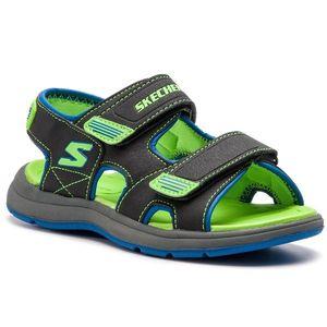 Sandále SKECHERS - Sun Spurt 97125L BBLM Blk Blue Lime 470d1ee261e
