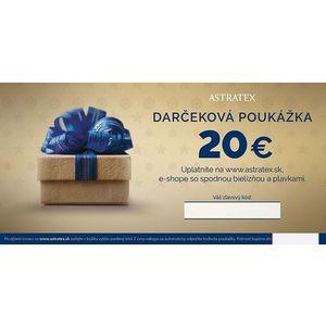Darčeková poukážka 20 EUR vyobraziť