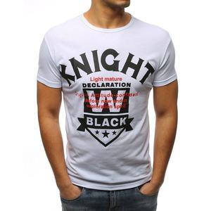 Perfektné biele tričko KNIGHT vyobraziť